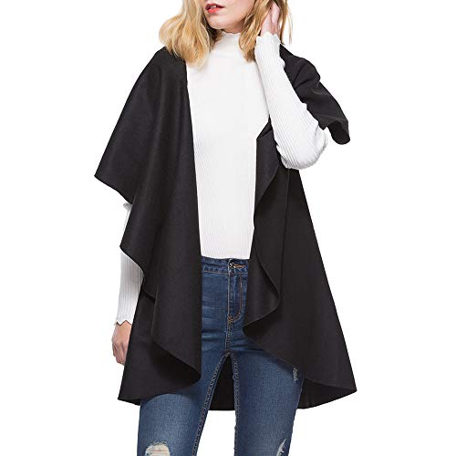 BHYDRY Damen Damen Winter Unregelmäßige Warme Strickjacke Kurzarm Revers Mantel