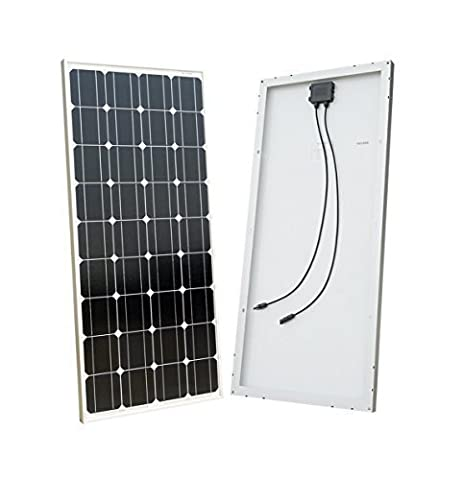 ECO-WORTHY 100W Solar Panel 12V Monocrystalline Photovoltaic PV Module for
