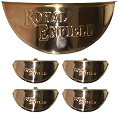 A&A Automobile®s Brass Set of Indicator & Headlight Cap For Royal Enfield