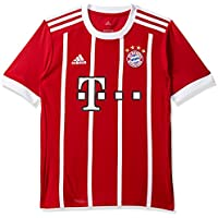 new styles bf22a c1750 adidas Bayern Monaco 2017-2018 H JSY Y, Maglietta Bambino, Rosso (Rojfcb