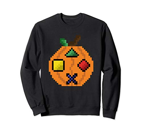 Pumpkin Game Controller Halloween Jack O Lantern Joystick Sweatshirt (2019 Halloween-party World Adventure)