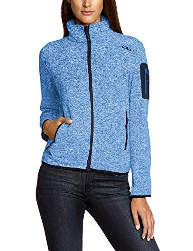 CMP Damen Strick Fleecejacke, Blau (B Jeans/B Blue), D40