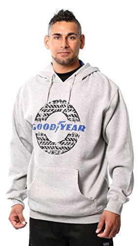 Goodyear Classic Graphic Print Hooded Sweater,,, X-Large, grau, 1