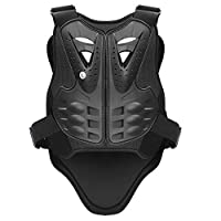 PELLOR Sports Chest Back Spine Chest Protector Vest Anti-Fall Motorcycle Protective Gear Motocross Dirt Bike Body Guard Vest for Cycling Skiing Riding Skateboarding (S: For height 1.1-1.3m/3.6-4.3ft)