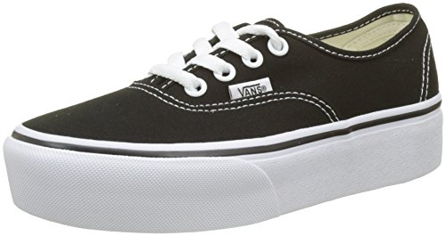 Vans Authentic Platform 2.0, Sneaker Donna, Nero (Black Blk), 40 EU
