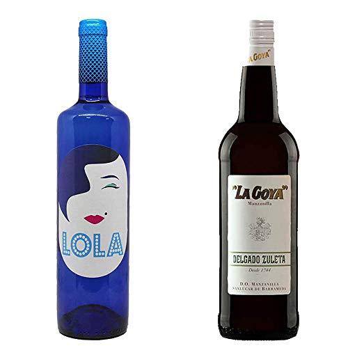 Lola Blanco Semidulce Y Manzanilla La Goya - D. O. Campo De Borja Y D. O. Manznailla De Sanlúcar De Barrameda - 2 Botellas De 750 Ml