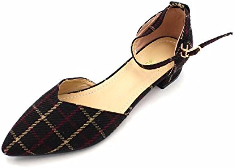 SFSYDDY da donna scarpe da donna bella scarpe estate Square Cloth Hollow tacco basso scarpe da donna, Apricot... | Prezzo giusto  | Uomo/Donne Scarpa