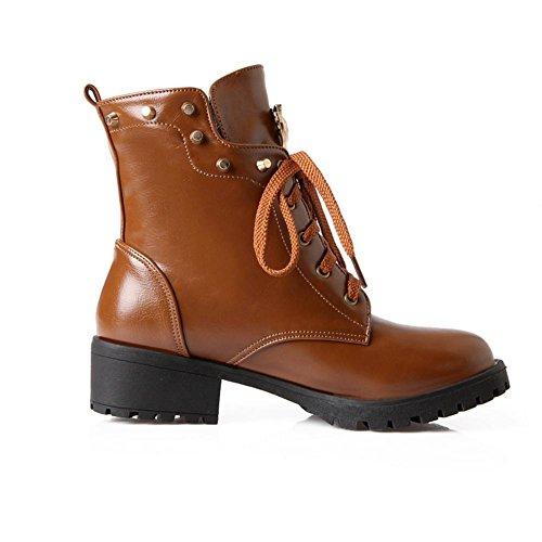 Best 4U® Scarpe da donna Scarpe Premium in PU Scarpe da Calzino Rivetto Rhinestone Casual Style Inverno Autunno Inverno Rosso Nero brown