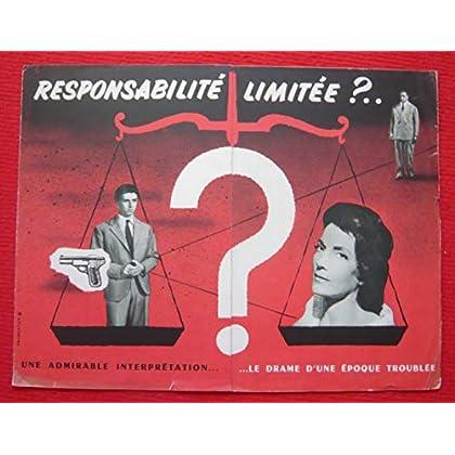 Dossier de presse de Responsabilité limitée ? (1956) -déplié (25x65 cm), 6 p – Film de Turi Vasile avec Vittorio de Sica , Isa Miranda – Photos N&B -résumé scénario