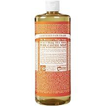 Dr. Bronner's Magic Soaps Pure-Castile Soap, 18-in-1 Hemp Tea Tree, 32-Ounce Bottle