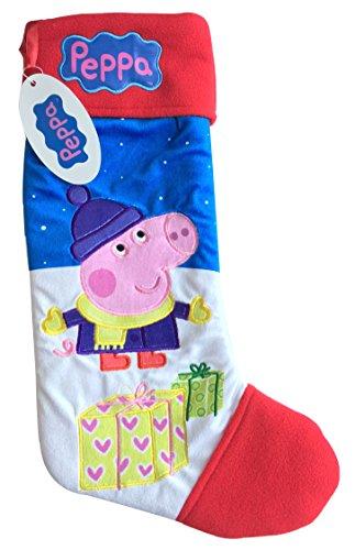 Calze di natale in velluto felpato, prodotto di marca ufficiale george pig