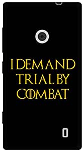 The Racoon Lean Trial by Combat hard plastic printed back case for Nokia Lumia 520