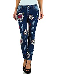 Bestickte Destroyed Skinny Jeans Für Damen bei Ital-Design