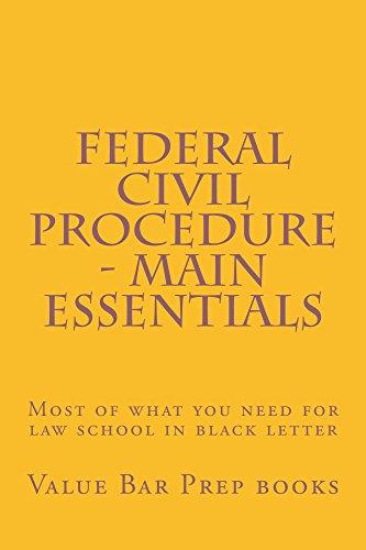 Federal Civil Procedure - Main Essentials: Help@BarPrepBarrister.com (English Edition)