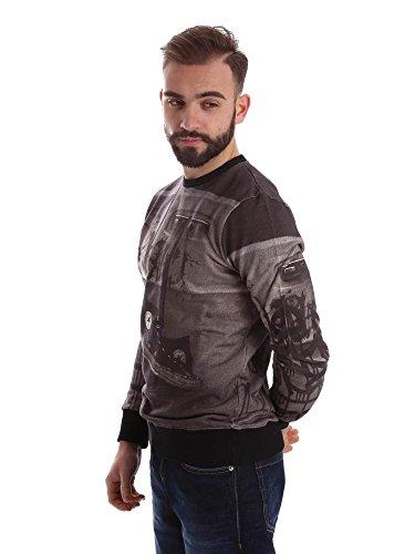 Converse Herren Sweatshirt GRIGIO STAMPA GRAFICA