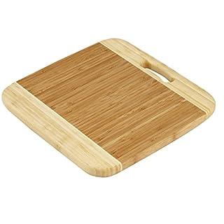 Industrias Aldaya S.L. quadratisch Schneiden Tisch mit Griff, Bambus, braun, 30x 30x 2cm
