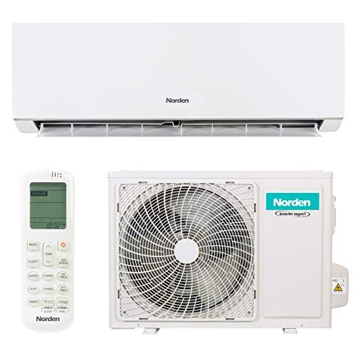 Konsole Zu Hause (Norden Klimaanlage | Energiesparendes Split-Klimagerät mit A++ Energieeffizienzklasse | Wand-Klimaanlage mit Invertergerät und Fernbedienung für alle Raumgrößen (3,5 kW))