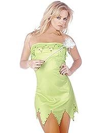 Mix lot new frauen sexy Miss Elf Prinzessin 3-teiliges Outfit mit Flügeln und Zauberstab Kostüm Damen klassifiziert tinkerbell Stil Partei zu tragen Haut fit kostüm Größen 36-38/40-42/44/46