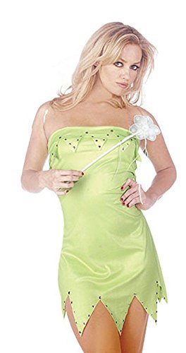 Mix lot frauen sexy Miss Elf Prinzessin 3-teiliges Outfit mit Flügeln und Zauberstab Kostüm Damen klassifiziert tinkerbell Stil Parteikostüm Größen 36-38/40-42/44/46 (Small (Frauen Kostüme Für Tinkerbell)