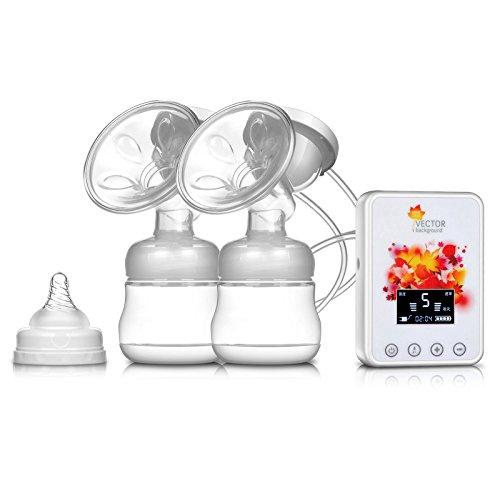 NWYJR Breast Pump confort unique plus proche de Nature prolactine Twin grande succion tire-lait électrique , white