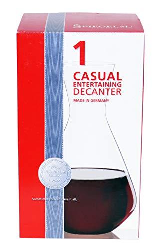 Spiegelau & Nachtmann, Dekantierkaraffe, Kristallglas, 1,4 l, Casual Entertaining, 4800188