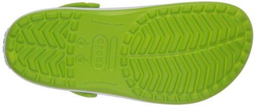 Crocs Crocband Sabot U, Ciabatte Unisex Adulto Verde (Volt Green/Varsity Blue)