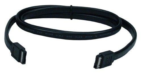 PC Auslauf Leeds - innen schwarz 45 cm SATA 3 III 6 Gbps Serial ATA Festplatte Datenkabel für Kabel - 8,89 cm/6,35 cm/SSD
