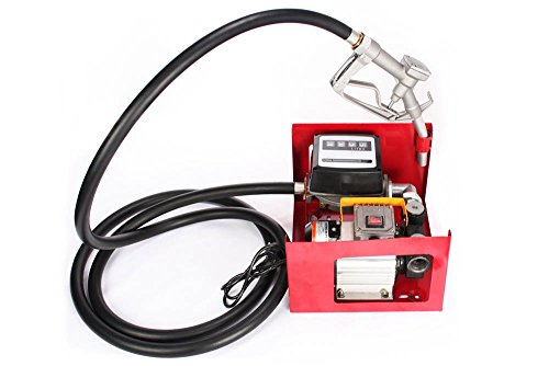 Preisvergleich Produktbild Lartuer Diselpumpe Heizölpumpe 550W 220V Ölpumpe Single-Phase Motor for Blo-Fuel 60L / Min Electric Fuel Oil Pump