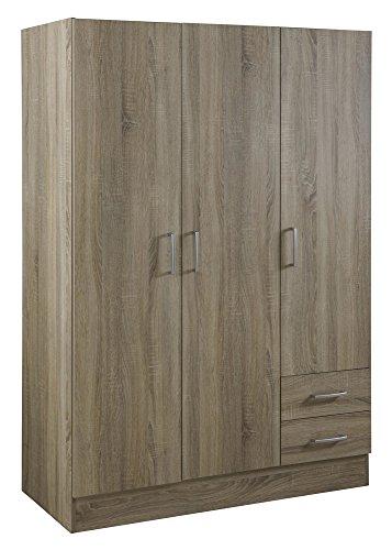 armadio-3-ante-2-cassetti-rovere-sonoma-contenitore-salvaspazio-camera-da-letto