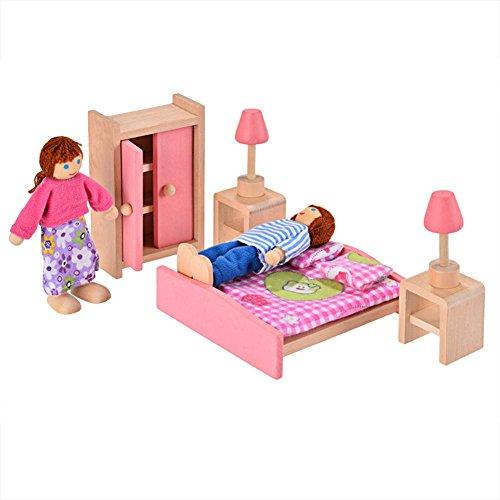 Arshiner Puppenmöbel Puppenhaus Holz pink