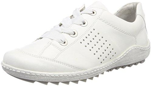 Remonte Damen R1406 Low-top, Weiß (Reinweiss/Silver), 38 EU (Sportschuhe High Sneaker Top)