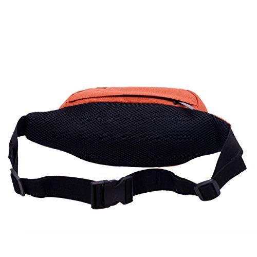 Taschen Wasserdichte Reisetaschen Sportgürtel Reisen Wandern,Black LightGray