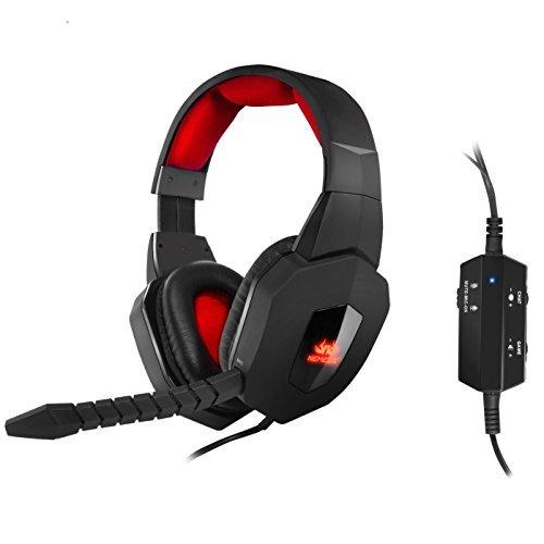 Sumvision Akuma PC console PS4/Xbox One/PS3/Xbox 360fibre Optical Digital Sound Gaming cuffia auricolare cavo staccabile con microfono In-line connessione USB per PC, laptop, Playstation