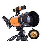 WYLOKEN Buscador de Estrella telescopio con trípode 360mm 50mm HD Zoom monocular Espacio astronómico telescopio para niños y Principiantes-A