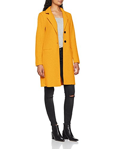 ONLY Damen Mantel Onlvikki Wool Coat CC OTW, Gelb (Golden Yellow Detail: Melange), 42 (Herstellergröße: XL)