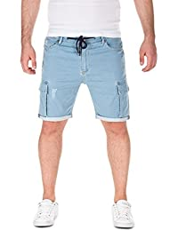 Yazubi Herren Sweat Shorts Hero - Bermuda aus Sweat in Jeans-Optik