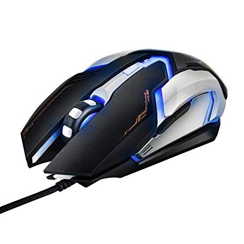 TFXHGGM Gaming-Maus, kabelgebunden, 3000 DPI, optisch, LED, 6D, USB, für PC, Laptop, Fashion -