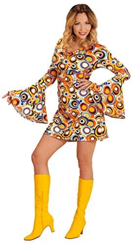 Karneval-Klamotten Hippie Kostum Damen 70er Jahre Damen-Kostüm Retro Kostüm bunt Karneval Damen-Kostüm Größe 34/36