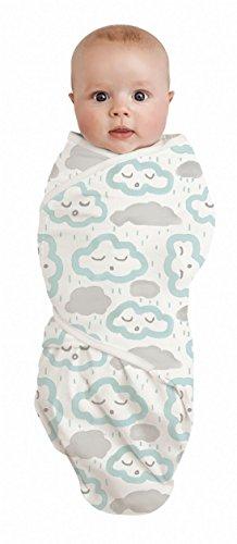 Bébé Studio Coton Swaddle Wrap nuages, Pmint LG