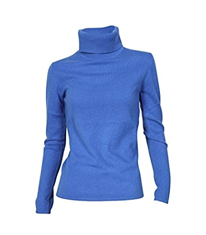 NOT SHY Damen Rollkragenpullover aus Kaschmir blau bleu cyan