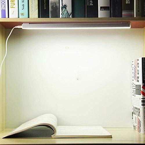 DEJ Minimalistische, Tragbare Led-Schreibtischlampe, Led-Nachtlicht, Led-Aluminiumlichtschlauch für Schlafgemach, Schreibtisch, Schlafsaal, Flach, Ergänzungslicht, 6W
