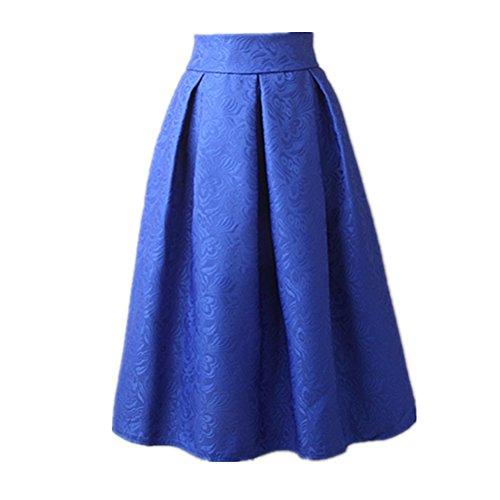 Uideazone-Mode-Blumenrock-Frauen-mit-hoher-Taille-und-Plissee-Ausgestelltes-Midircke-S-L