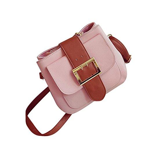 Longra Modo delle donne di spalla del sacchetto Rosa