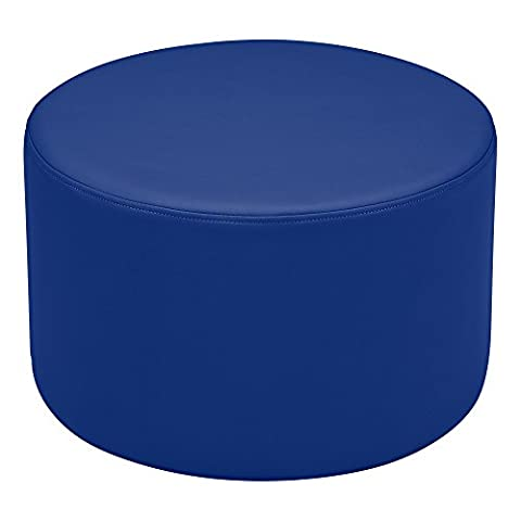 'sprogs Kids vinyle Soft Seating Round Stool, 12H, Blue, SPG-1005bl A