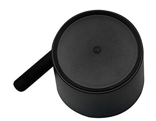 Wenburg Abschlagbehälter/Knock box (15 cm), groß, für Siebträger Kaffeemaschinen. Abklopfbehälter mit gummierter Abklopfstange und rutschfestem Boden. Kaffeesatz-Behälter, schwarz - 4