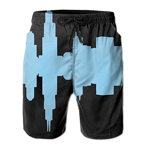 best& Chicago - City Skyline Mens Summer Beach Shorts Swim Trunks with Pockets M