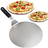 Pelle à Pizza Ronde en Inox avec Manche en Anti-dérapant Idéal Pour Les Gâteaux, Pizzas, Tartes
