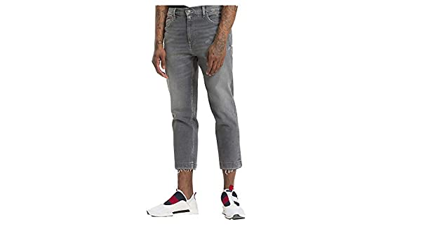 7666a0e4 Tommy Hilfiger Jeans Relaxed Cropped Randy Jeans Uomo DM0DM04921 911 TJ  Grey Com Herrenmode