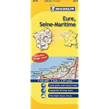 Michelin Map France: Eure, Seine-Maritime 304 (1:150K) (Maps/Local (Michelin)) (English and French Edition) by Michelin (2011-01-16)