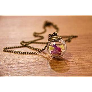 Colgante de flores naturales secas de colores – Bohemia colgante – Bola de cristal de 20mm – Regalo original para mujer – Regalo de Reyes – Prime